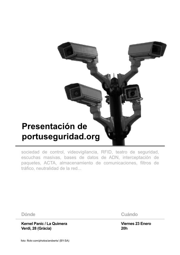 Cartel de la charla de presentación en KernelPanic